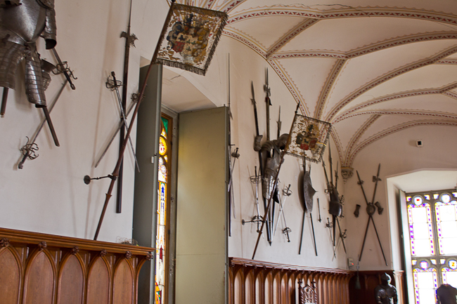 armor in the knight's hall